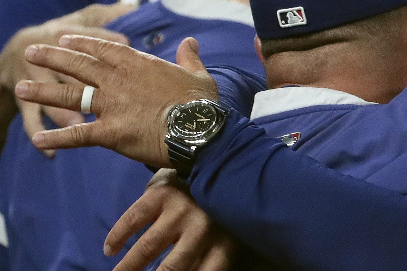 Watch Spotting: Manager Dave Roberts Wearing A Panerai Luminor Marina As The Los Angeles Dodgers Win The 2020 World Series