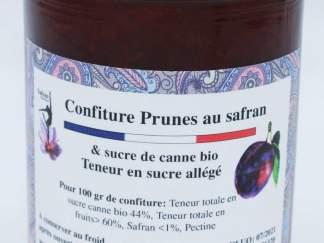 Confiture allégée de prunes au safran et sucre de canne bio
