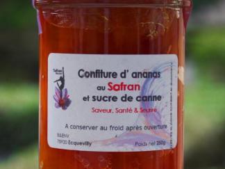 Confiture d'ANANAS au SAFRAN et sucre de canne