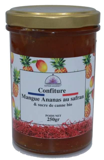 Confiture mangue ananas au safran & sucre de canne bio