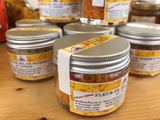 Fleur de sel de Noirmoutier au safran
