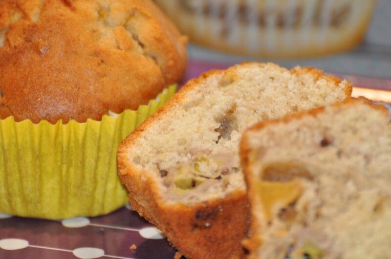 Muffins Bananes, Noix de Coco et Pommes