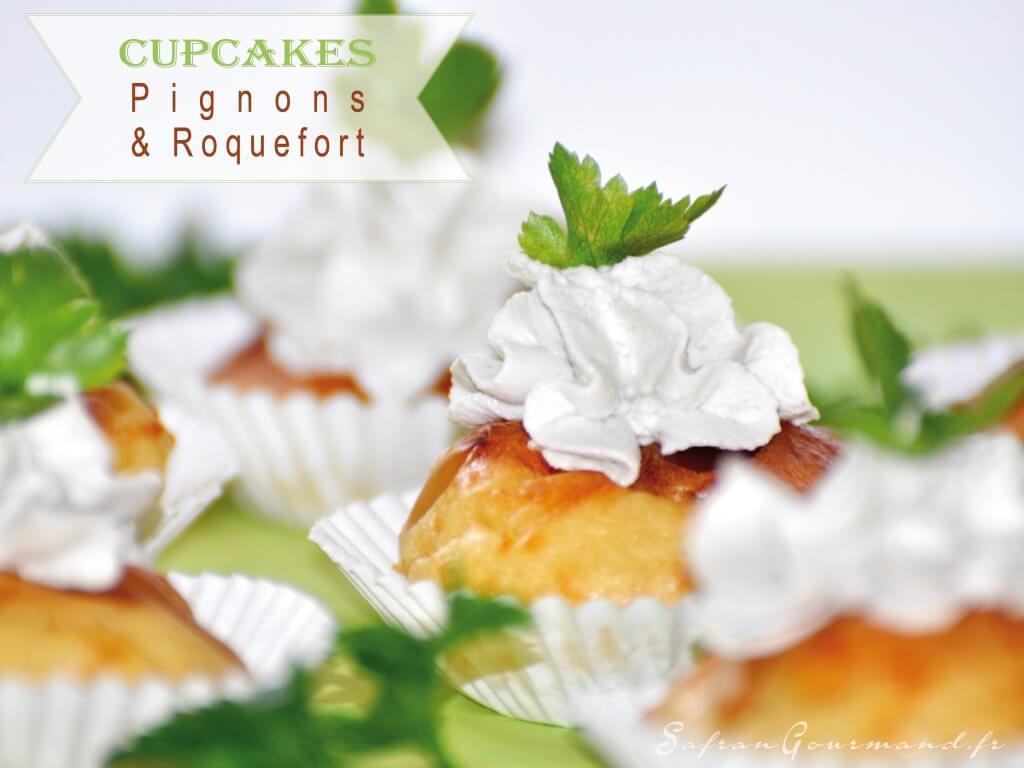 Cupcakes au Roquefort et Pignons