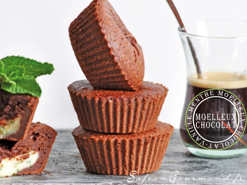 Moelleux au Chocolat, Cœur Vanille & Menthe