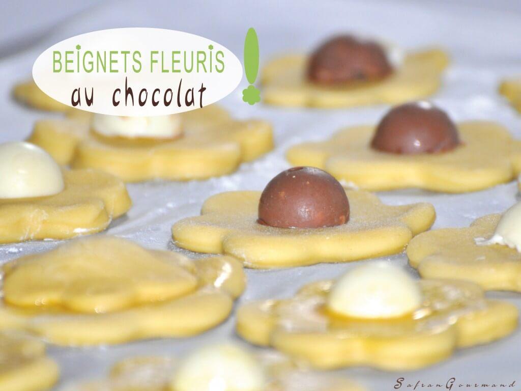 Beignets Fleuris au Chocolat