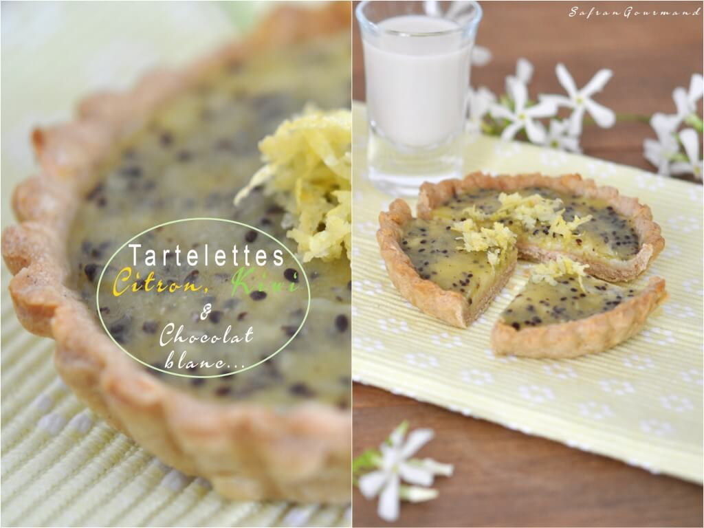Tartelettes Citron, Kiwi & Chocolat Blanc