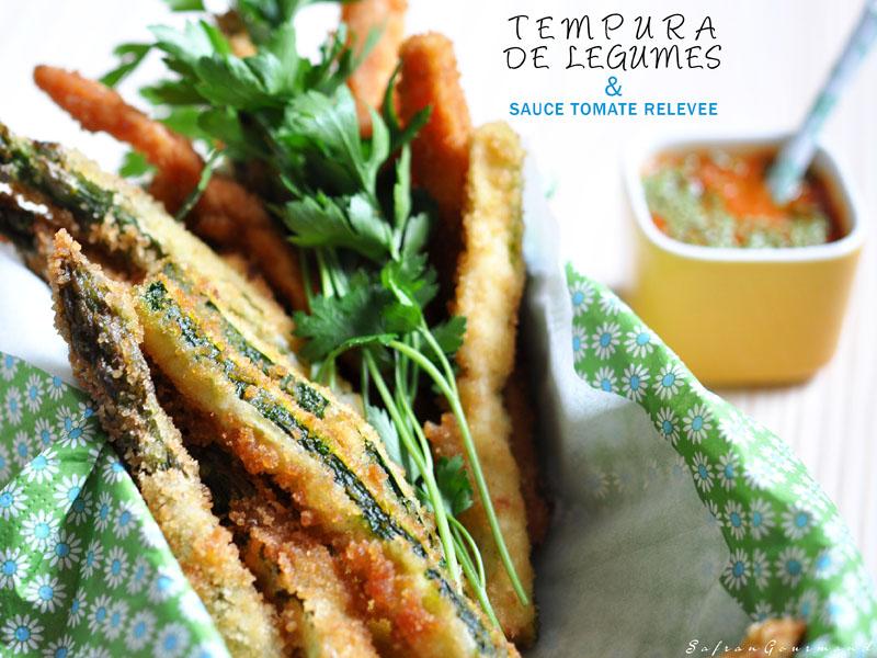 Tempura de Légumes & Sauce Tomate Relevée