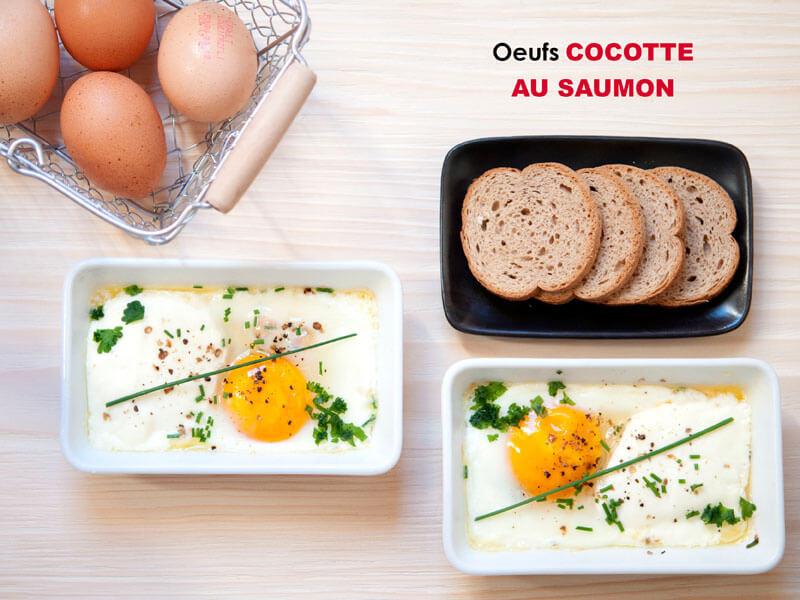 Oeufs Cocotte au Saumon
