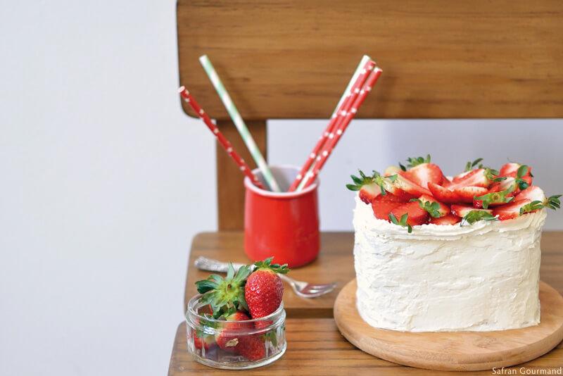 Gâteau au Sirop d'érable et aux Fraises
