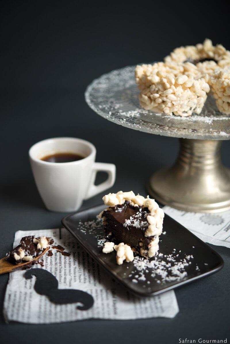 Tarte Chocolat au Poivre de Java {au riz soufflé}
