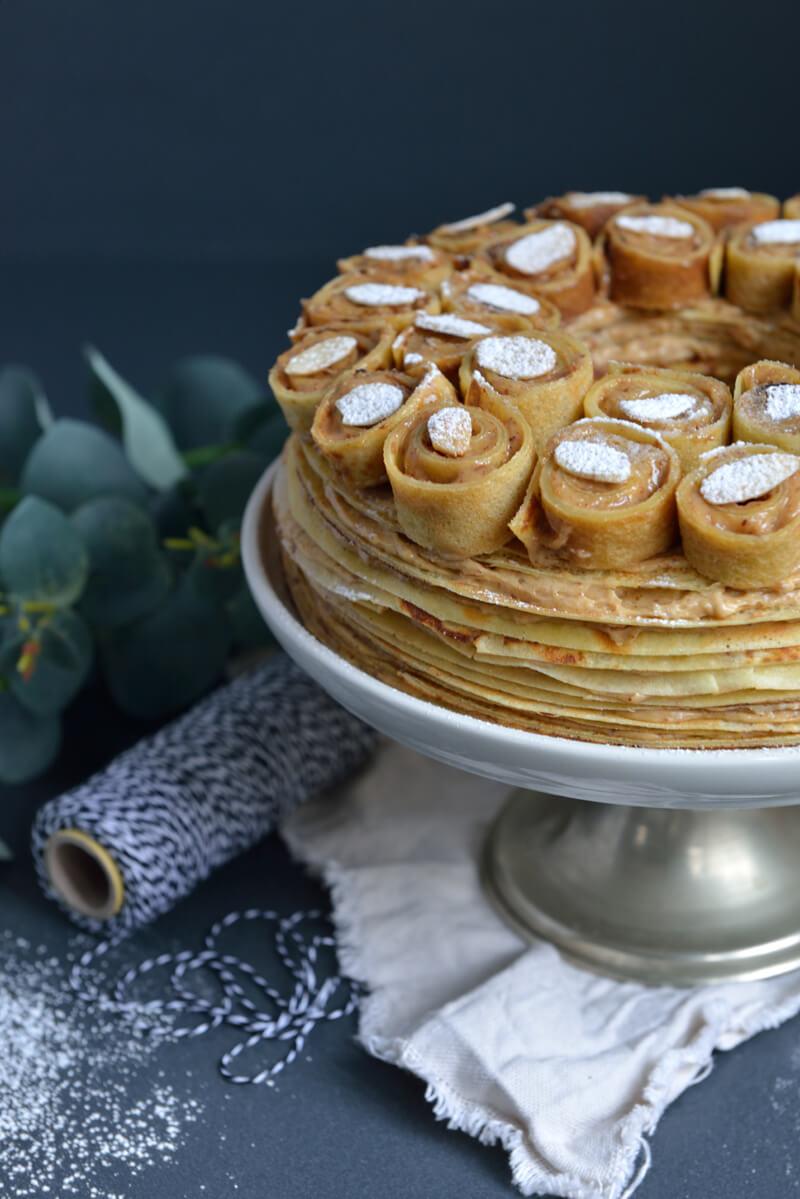 """Gâteau de Crêpes Façon """"Paris-Brest"""""""