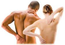 couple having back massage