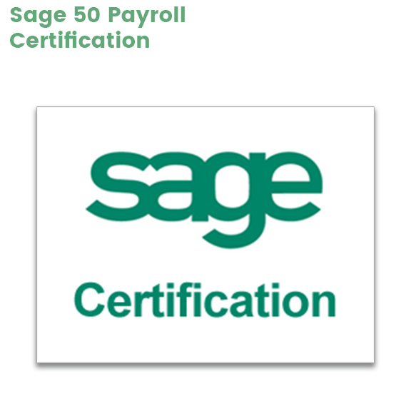 an image with the words Sage Certification representing the Sage 50 Payroll certification course you can take