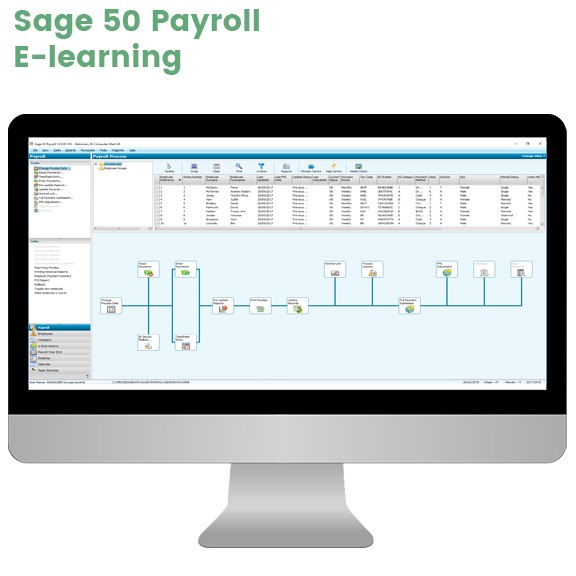 Sage 50 Payroll e-learning screen grab