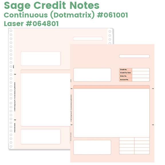 Sage Credit Notes