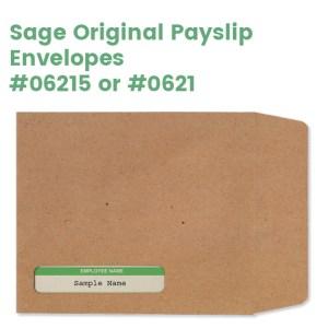 Sage Original Payslip envelopes with employee name window