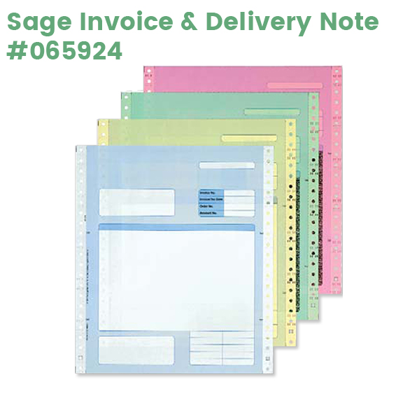 Sage 4 Part Invoice and Delivery note for dotmatrix printers
