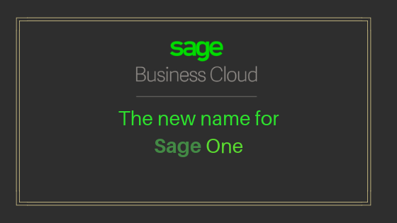 Black screen showing green text sage business cloud