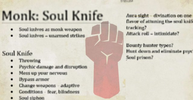 The Monk: Soul Knife subclass – The Mike Mearls Happy Fun Hour