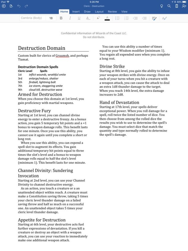 UA Destruction and Darkness domains for clerics! | Sage Advice D&D