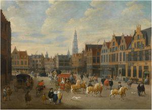 View of the Meir in Antwerp