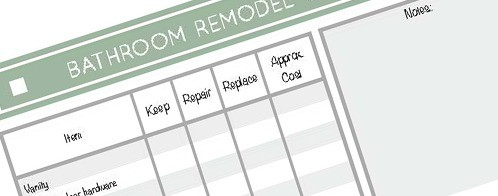 Average Cost of a Bathroom Remodel - Free Budgeting Printable 3