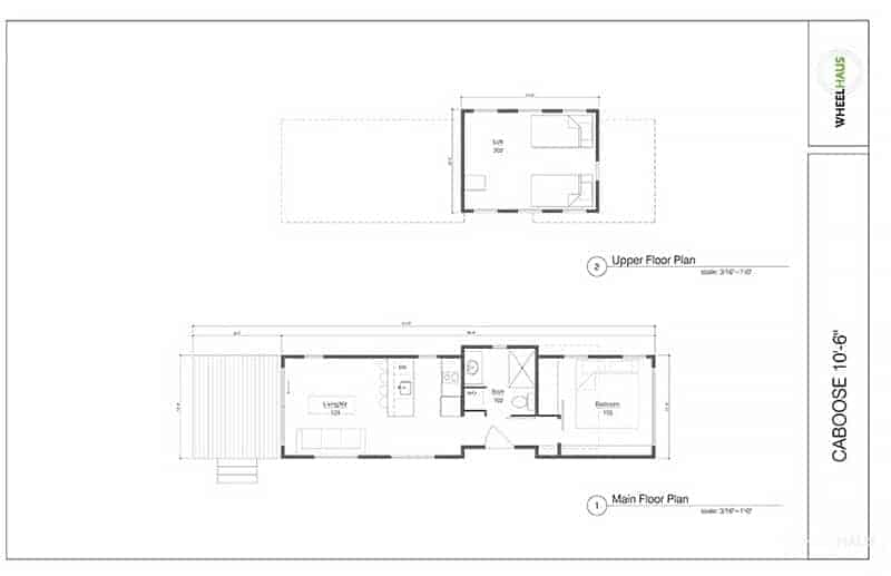 floor plan Wheelhause Caboose
