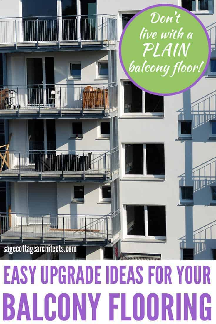 Photo collage of white apartment building with balconies