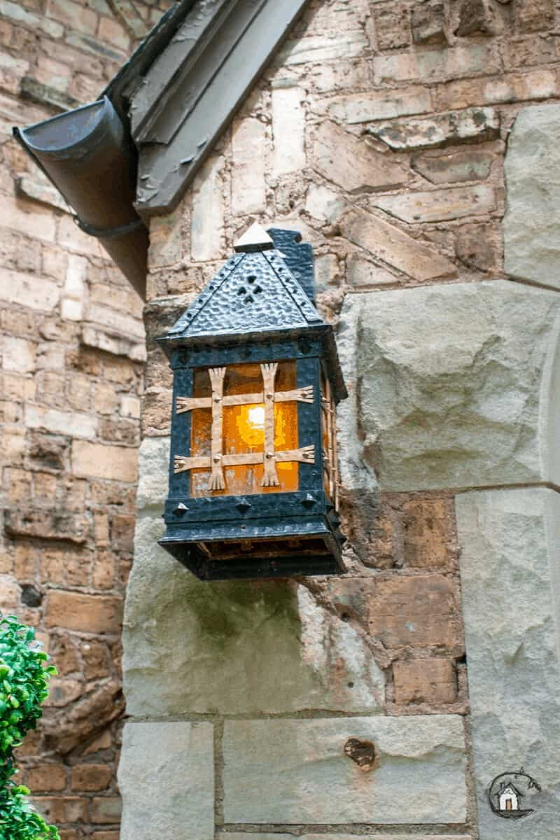 Photo of lantern on old house tour.