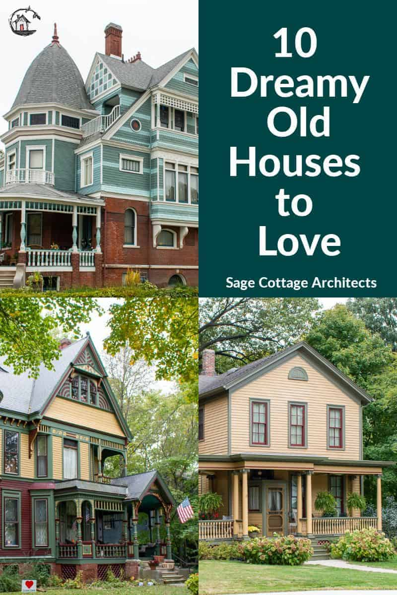 Photo collage of old houses.