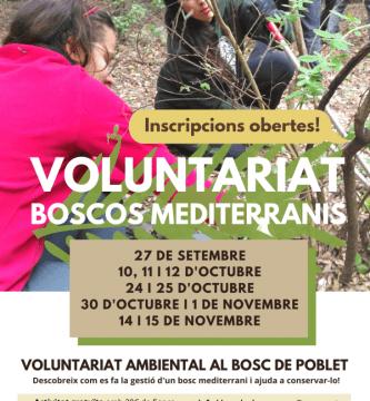 voluntariats boscos mediterranis 2020
