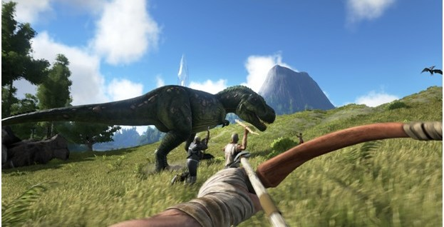 playing ark survival evolved on gaming laptop