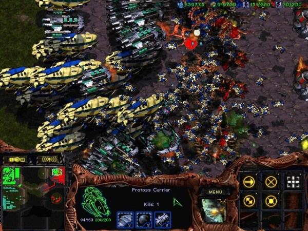 Starcraft Terran Protoss Battle Zerg