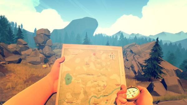 Firewatch gameplay screenshot.