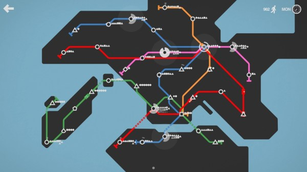 Minimetro gameplay of setting up subway