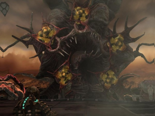 The Hive Mind from Dead Space Attacking Isaac