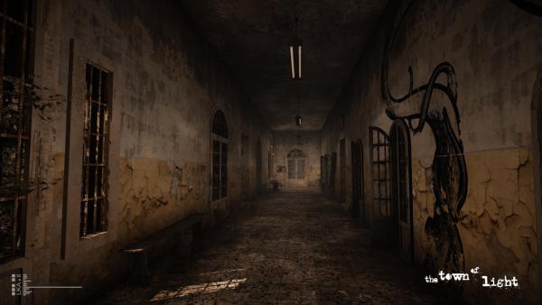 The Town of Light Screenshot of dark corridor