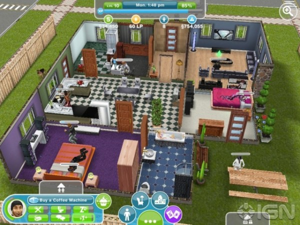 A house in the Sims.