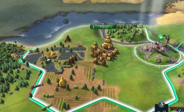 Civilization 6 gameplay screenshot.
