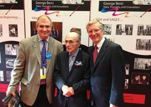 George Berci (center) with Steve Schwaitzberg (left) and L. Michael Brunt (right)