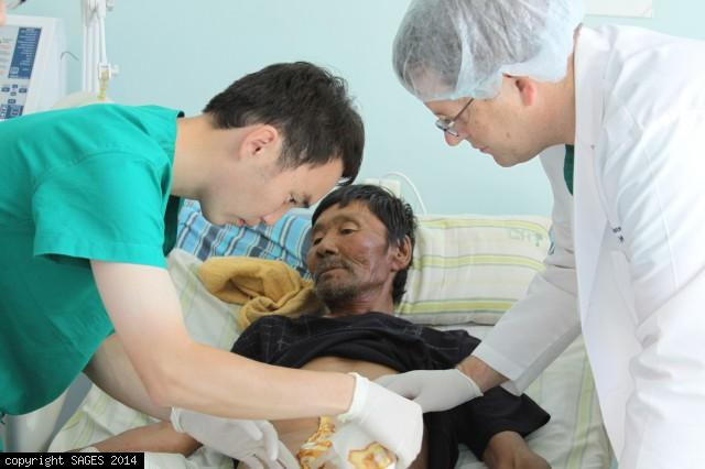 Examining Patient Choibalsan Mongolia