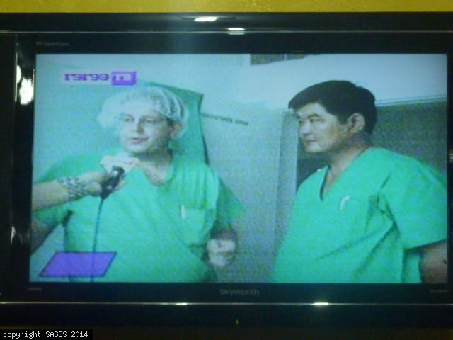 TV interview laparoscopic training Mongolia