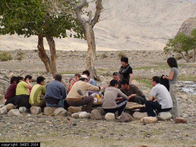 Sharing a meal with Mongolian Surgeons Khovd