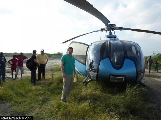 Helicopter to Leogane Haiti January 2010