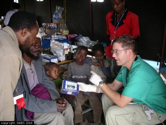 Clinic in tent in Ethiopia
