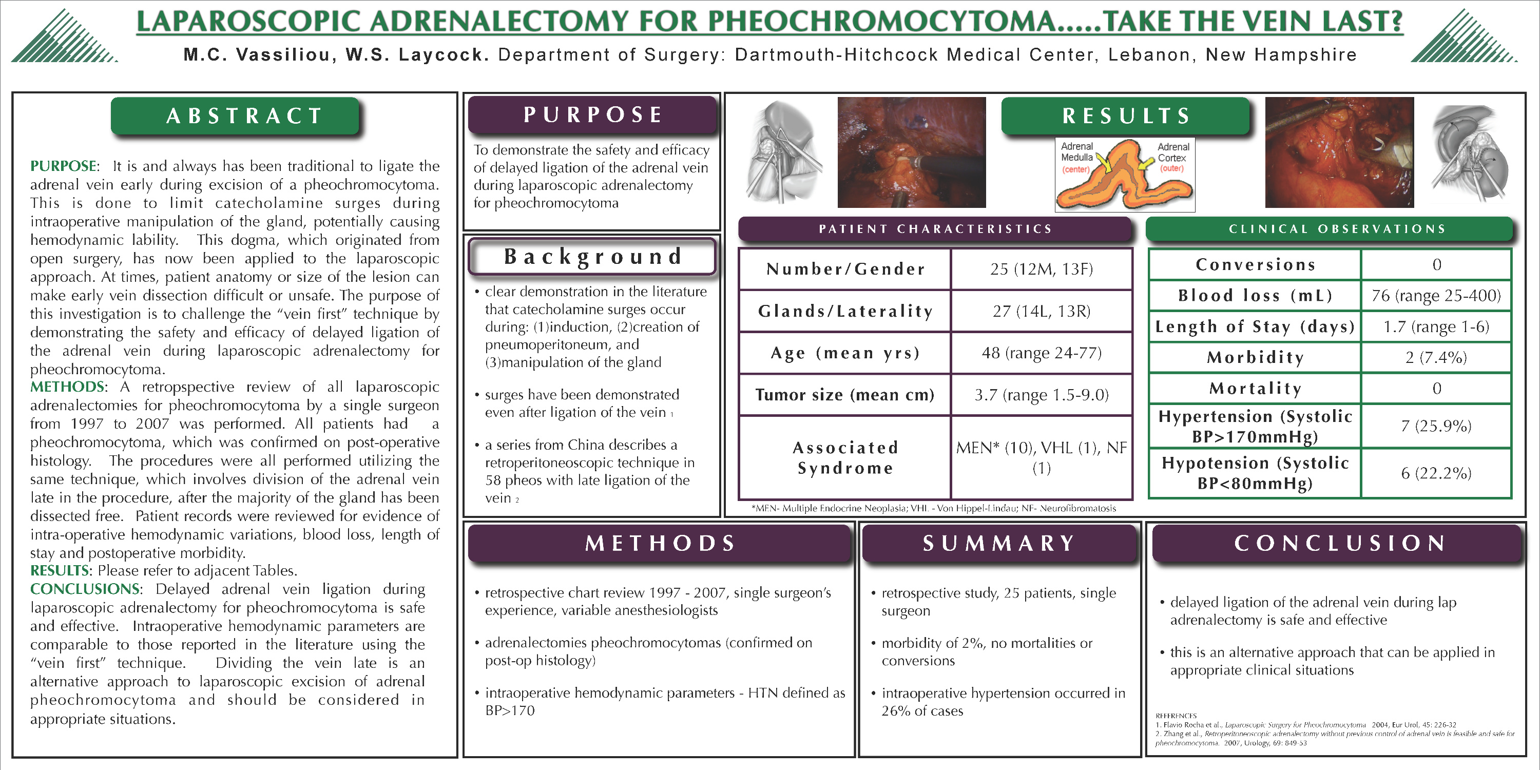 Laparoscopic adrenalectomy for pheochromocytoma…   take the