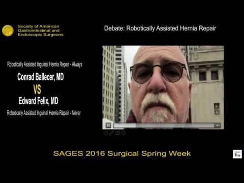 Robotically assisted inguinal hernia repair: Never from the