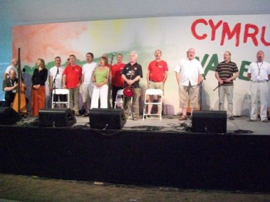 The Welsh Mainstage (I managed backstage)