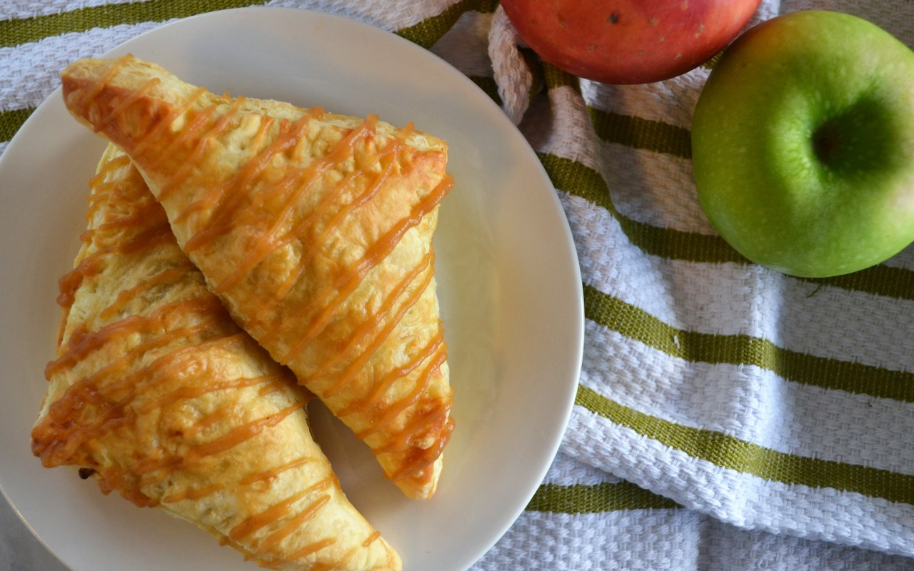 Apple Cranberry Turnovers with an Apple Butter Drizzle