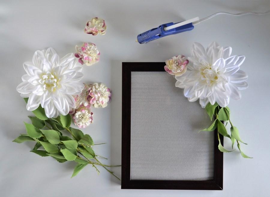 Diy Flower Frame Sage To Silver